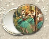 ballet dancer pocket mirror,  ballerina art hand mirror, gift for ballet dancer, mirror for purse, bridesmaid gift for her MIR-965
