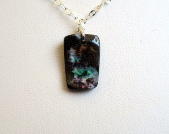 Delicate boulder opal necklace