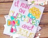 Cupcakes and Jesus Applique Design Machine Embroidery Design INSTANT DOWNLOAD