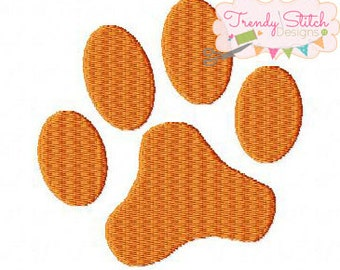 Paw Print MINI Machine Embroidery Design Made To Match Filled Stitch INSTANT DOWNLOAD