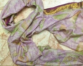 Beautiful Print  Recycled sari  silk scarf (22x68)