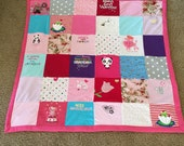 Patchwork Clothing Blanket/Quilt or Adult Clothing Quilt.   Baby Quilt    3 sizes available!!!!!!