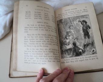 Antique 1870s Appleton's Second Reader. Children's Textbook. 1878.