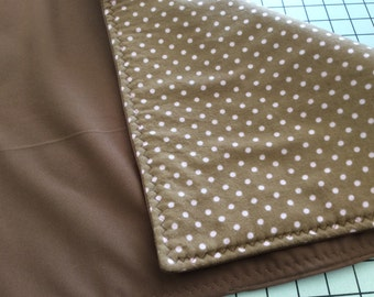 Puppy Pad - Potty Pad - Pee Pad - Washable - Reusable - Absorbent - Brown with  Polka Dots - 18 x 24
