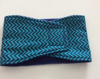 Dog Diaper - Male Dog Belly Band - Aqua and Blue Chevron - Available in all Sizes