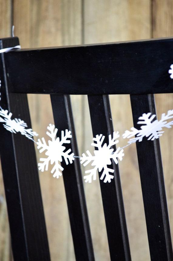 Frozen Snowflake Chair Garland, short banner