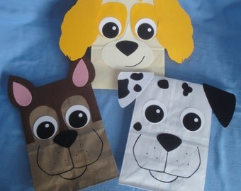 Dog Treat Sacks - Puppy Pet Theme Birthday Party Favor Bags by jettabees on Etsy