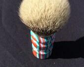 Beautiful, Candystripe Acrylic badger shaving brush, 26mm Silvertip #AA5