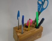 Organizer for Desk Top - Office or Home - Rustic One of a Kind Pencil Holder