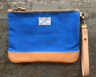 No. 9 Personal Effects Bag in Bluebird Duck Canvas