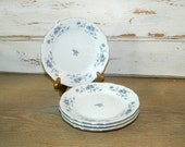 Four Johann Haviland Blue Garland Bread & Butter Plates - Traditions