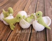 T-Rex Amigurumi Toy with Egg - Dinosaur in Egg - Dinosaur Play set - Crochet Dinosaur - Geek Gift - Dino Hatchlings - Paleontology Gifts