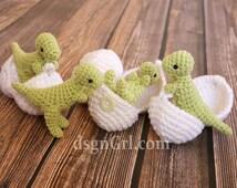 T-Rex Amigurumi Toy with Egg - Dinosaur in Egg - Dinosaur Play set - Crochet Dinosaur - Geek Gift - Dino Hatchlings - Paleontology Gifts