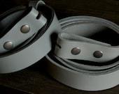 "Light/Dark Grey Belt 1-1/4"" or 1-1/2"" Hand Dyed Grey Leather Belt INTERCHANGEABLE Custom Cut for Suit or Jeans INTERCHANGEABLE  Belt w/snaps"