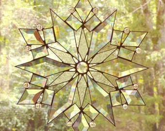 Stained Glass Star / Snowflake  - The Stars of Today Clear Suncatcher