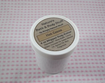 Hot Cocoa Whipped Body Butter 4oz Jar Of Body Butter