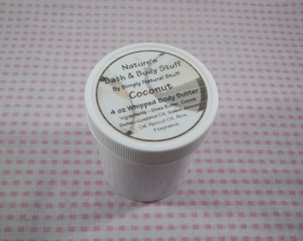 Coconut Whipped Body Butter 4oz Jar Of Body Butter