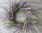 Pussywillow and Heather wreath