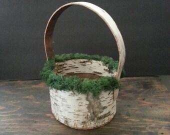 Birch bark flowergirl basket