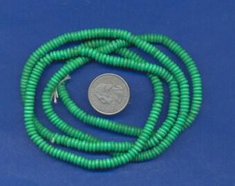 "36"" strand of 5mm bone beads:  Green"