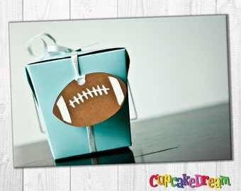 Football Birthday, Superbowl Favor Tag, Sports Baby Shower