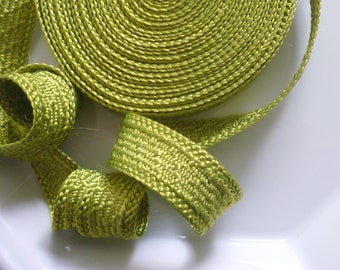 Art silk Moroccan trim, olive , textured trim,  5metres