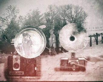 Midwest Memories digital art, old camera art,  photo montage, old pictures, office art, abstract, modern, home decor, wall art, photo art,