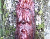 tree man wood carving, hand carved wood spirit sculpture, rustic decor wall hanging, living room art by WoodforddellDesigns