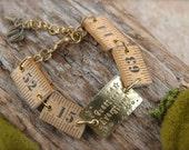 SALE Question Everything Vintage Ruler Tape Measure Bracelet