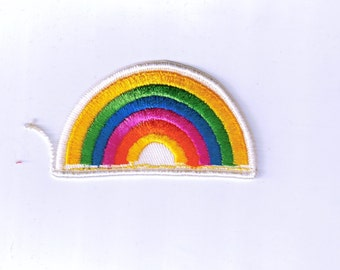 Retro Rainbow Authentic Collectible Vintage Sew On Patch Applique