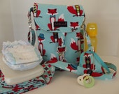 Dollbirdies Original Diaper Stroller Bag with Changing Pad and Pacifier Pouch