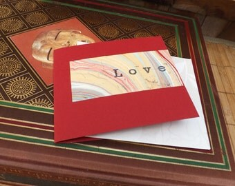 Marbled 'Love' Card