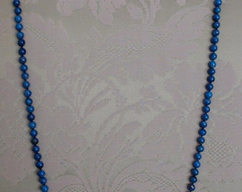 Lapis Lazuli 6mm 34 inches necklace