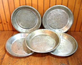 New England Table Talk Pie Tins, Instant Collection Of Five