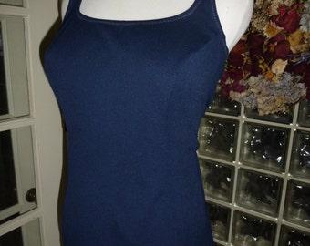 Vintage 50s 1950s 60s 1960s Silhouettes Navy Swimsuit One Piece Princess Bathing Suit Bullet Bra M Medium L Large