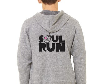 Gray Soulrun Zip Up Hoodie - Size Small