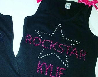 ROCKSTAR Shirt or Tank, Birthday bling Shirt, Rockstar tank, Rockstar birthday party, girls bling shirt, girls birthday tank, birthday shirt