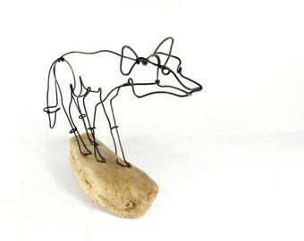 Fox Wire Sculpture, Wire Art, Folk Wire Art, 251477817