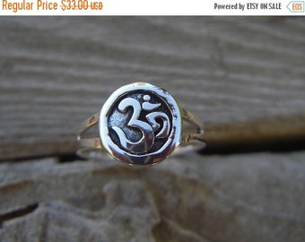 ON SALE Om ring in sterling silver