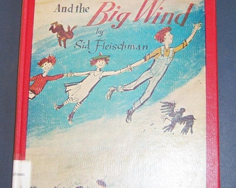 McBroom and the Big Wind by Sid Fleischman, child's vintage book decor