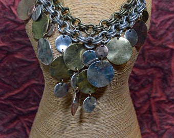 Mixed meal necklace - makes a statement as you wear it - #107