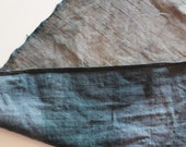 Antique Primitive 1800 Fabric - Hand Dyed Wool -  Beautiful Mottled Color - Grey/Blue