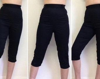 50s vintage style capri pants, made to order, hand made