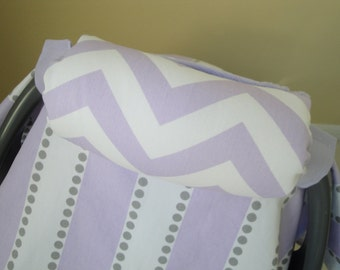 Car Seat Handle Cover Chevron and Minky, Your Choice of Colors, Reversible