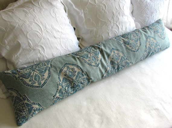 decorative bolster pillow 10x54 extra long in malta capri