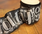 Holly Jolly Holiday Blackboard Ribbon