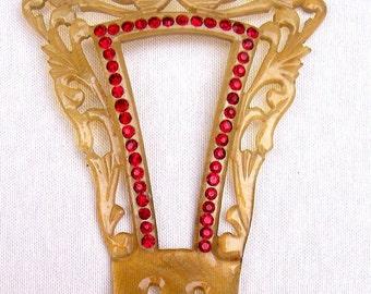 Art Deco celluloid hair comb hair pin hair pick hair accessory hair jewelry hair ornament