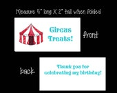 Circus Treat Bag Toppers ~ Printable gift labels