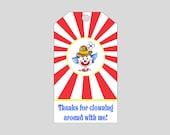 Circus Gift Tag ~ Printable gift labels