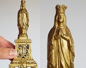 CLOSING 50% french statue one Virgin Mary statue Our lady of Lourdes
